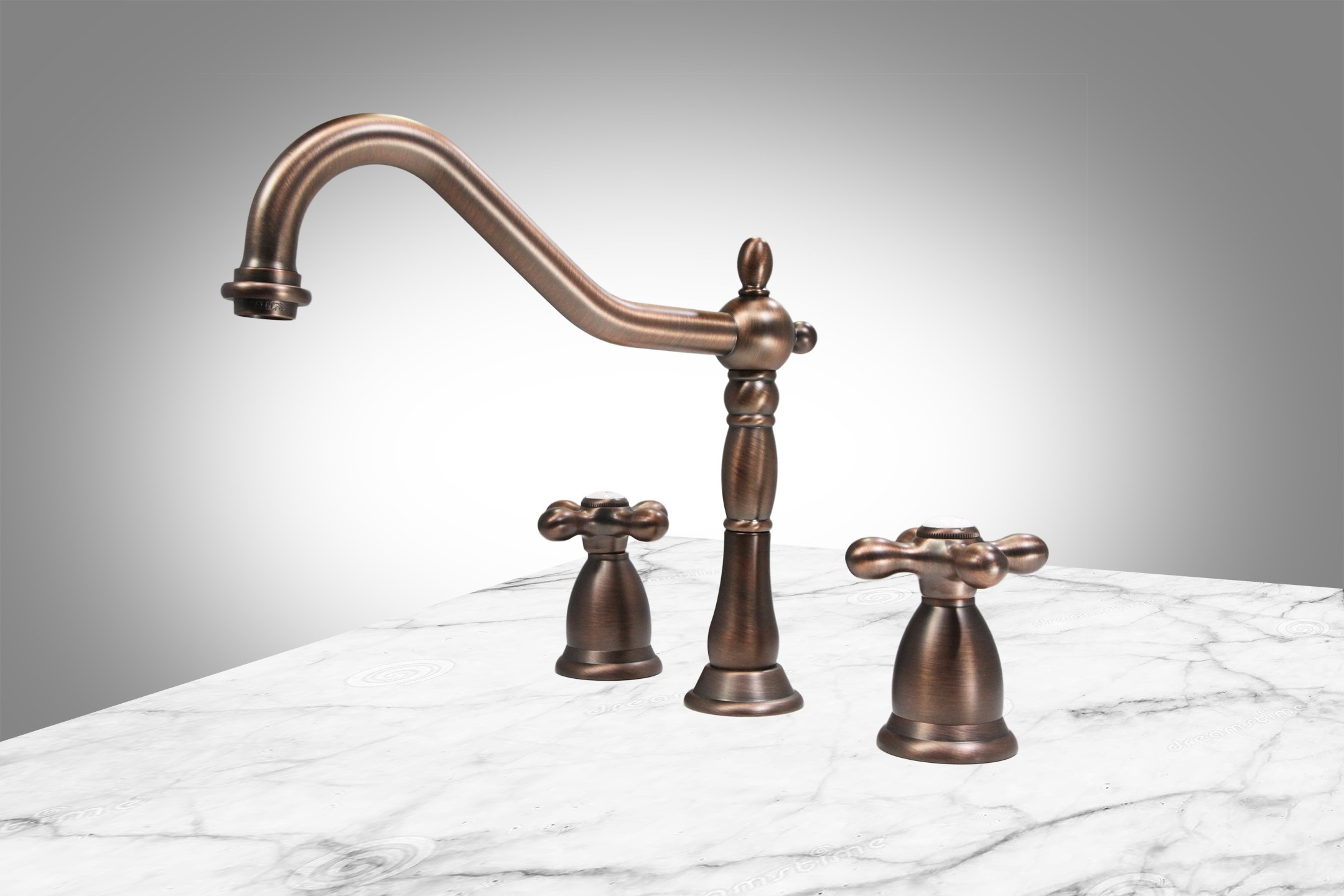 "Victorian Double Handle 8"" Widespread Bathroom Faucet $429 Retail Antique Bronze"