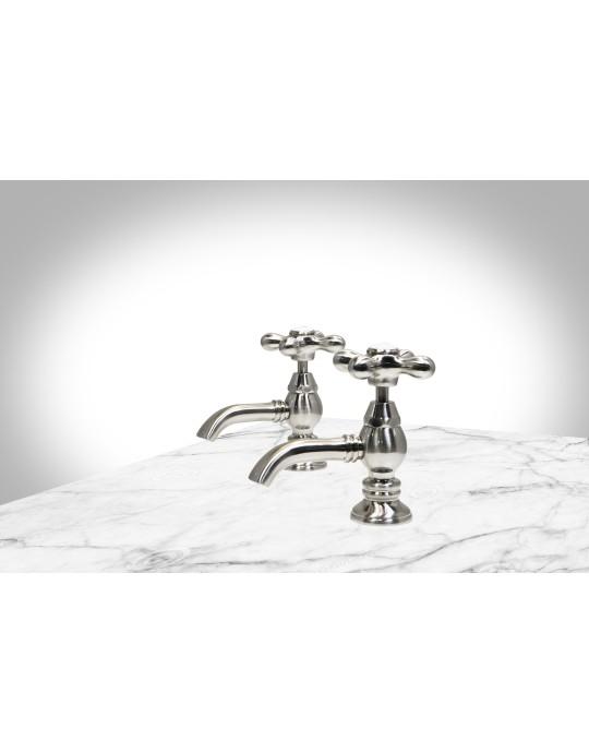 Elizabethan Classics Universal Two Handle Porcelain Hot Cold Lever Basin Tap Faucet